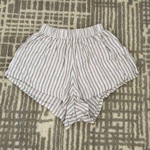 Brandy Melville Striped Mini Shorts